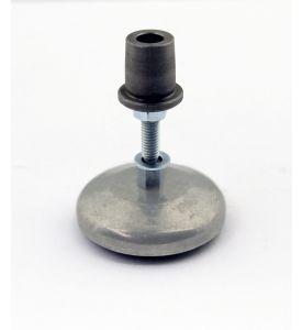 4 Aluminium-Gerätefüße mit Gummiplatte für PU 50