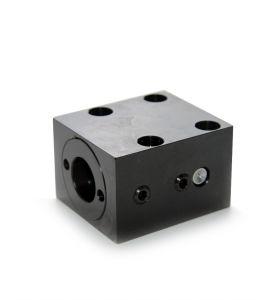 Spannblock 1 für Rundmutter - Kugelgewindespindel Ø20 mm (Fußbefestigung)