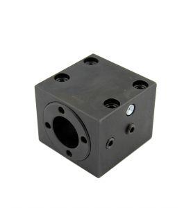 Spannblock 1 für Rundmutter - Kugelgewindespindel Ø25mm - Steigung 5mm/10mm (Fußbefestigung)