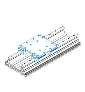 Schlitteneinheit mit 4x Alu-Schlitten IWS 1 (Bausatz)