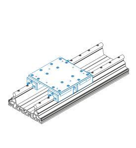 Schlitteneinheit mit 4x Stahl-Schlitten ILS 1 (Bausatz)