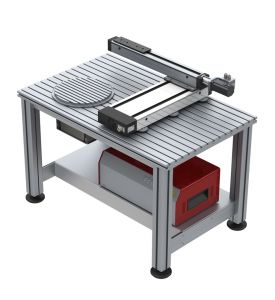 Kreuztisch und Rotationseinheit zum Vermessen von Teilen