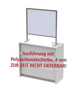 Husten und Virenschutz Thekenständer - polycarbonatscheibe ZUR ZEIT NICHT LIEFERBAR!