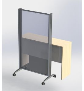Mobile sneeze guard and stand wall (on request)