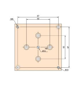 Schlittenplattenset für Kreuztisch LES 4