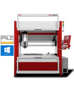 CNC milling machine OverHead Gantry M30 with open door. Fig. with additional options