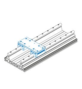 Slide unit with 2 aluminium slides IWS 1 (kit)