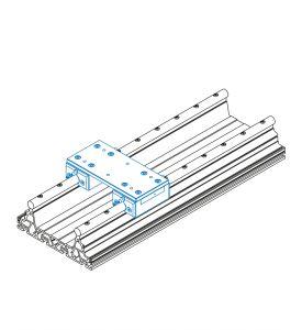 Slide unit with 2 steel slides ILS 1 (kit)