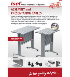 """Partial catalogue """"Assembly and presentation tables"""" as PDF file"""