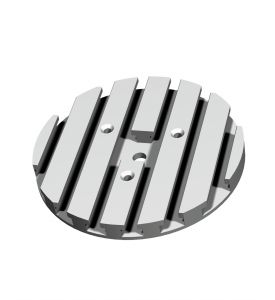 Aluminium T-groove-plate Ø 150 mm