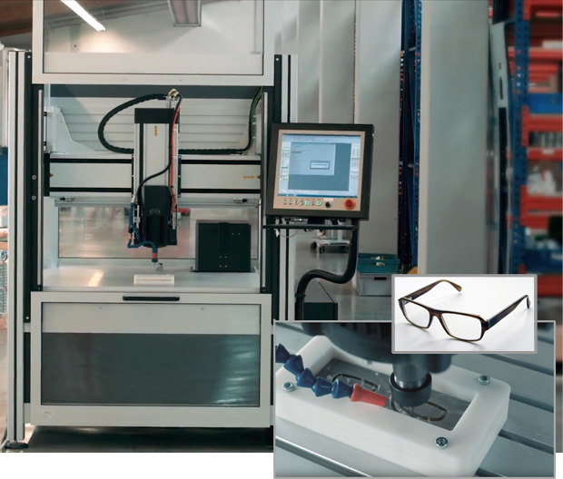 Customized CNC machine for eyewear manufacturing