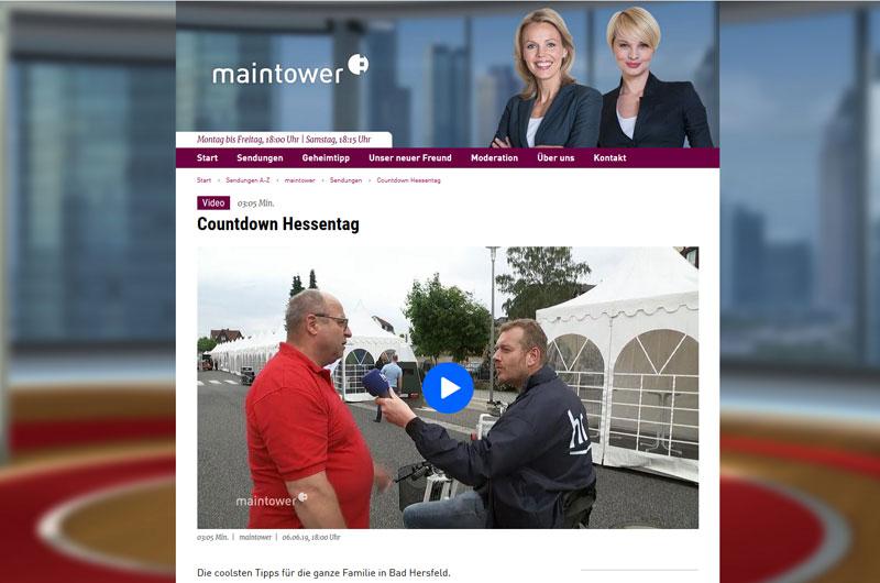 Der EuroScooter II in der Sendung Maintower, HR Fernsehen