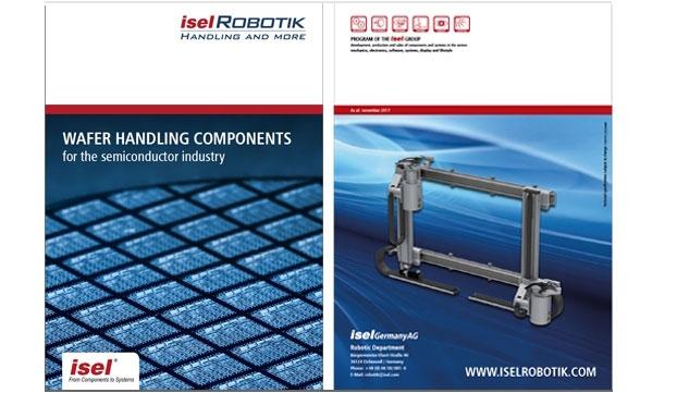 """Überarbeiteter Teilkatalog """"Wafer Handling components for the semiconductor industry"""" der iselRobotik"""