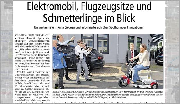 Auszug Wochenspiegel Meiningen