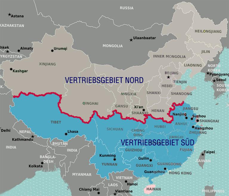 Vertriebspartner für China (Nord / Süd)