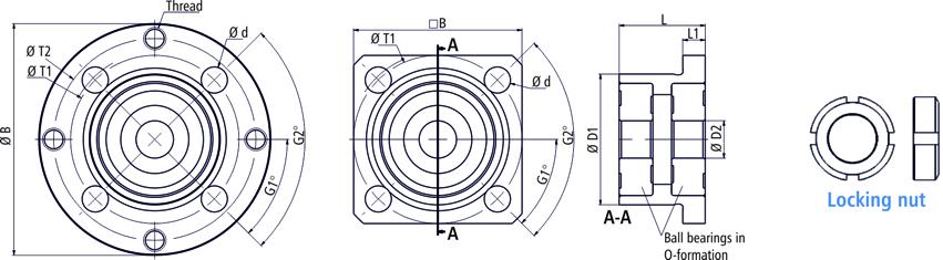 Drawings flange bearings drive side