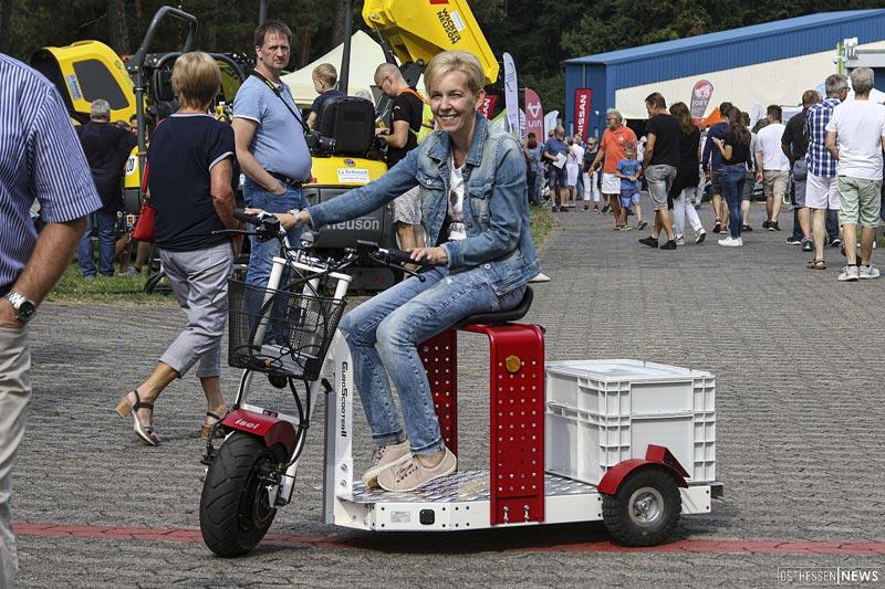 """Der EuroScooter II am """"3.Tag der E-Mobilität"""" am Point Alpha"""