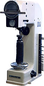 Wolpert hardness testing device