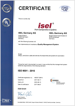 Certificat DIN ISO 9001:2015