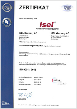 Zertifikat ISO 9001 - 2020